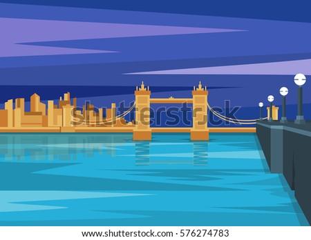 london landscape tower bridge