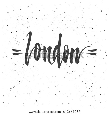 london lettering hand drawn