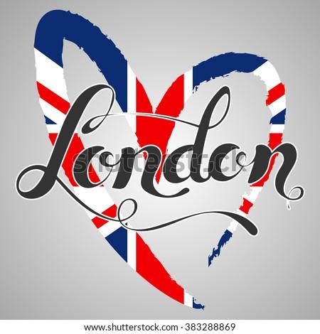 london lettering hand written
