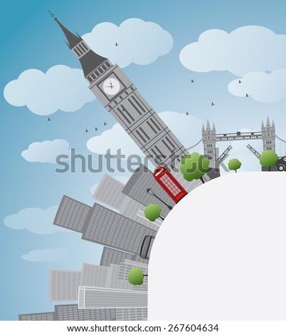 london panorama with big ben