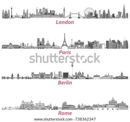 london  paris  berlin and rome