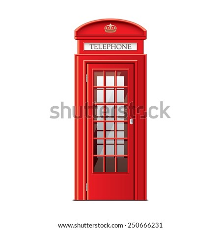 london phone booth isolated on