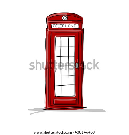 london phone box  sketch for...