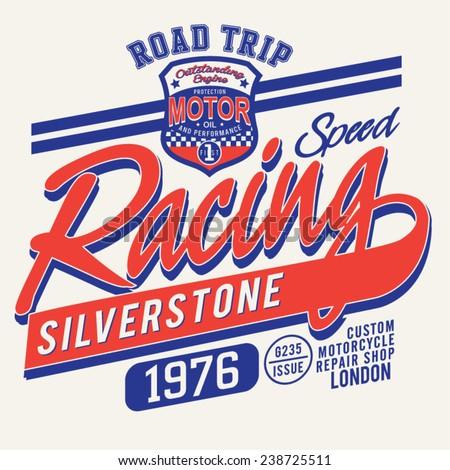 london racing sport typography
