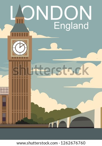 london retro poster vector