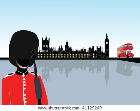 london scenery vector