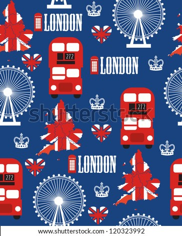 london seamless pattern design. vector illustration