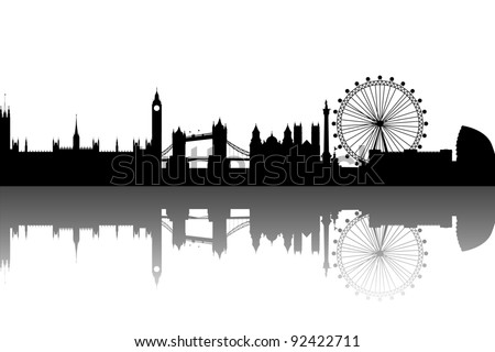 London Skyline abstract