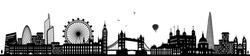 london skyline black