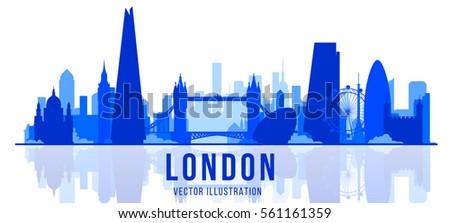 london skyline. England