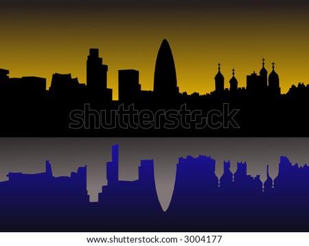 london skyline vector. stock vector : London skyline