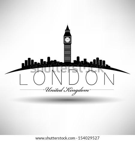 london skyline modern typography