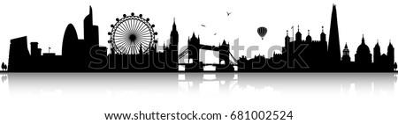 london skyline silhouette black