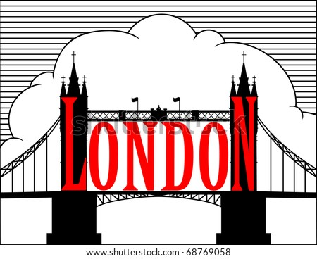 London. Tower bridge. Vector