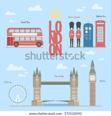 London travel info graphic / Vector illustration of the London