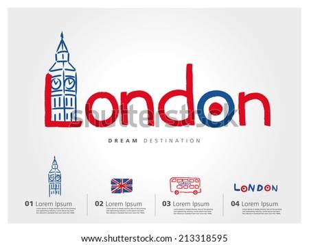 london travel set  england  big