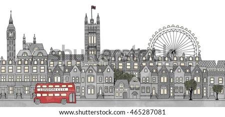 london  uk   seamless banner of