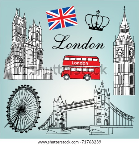London vector - stock vector