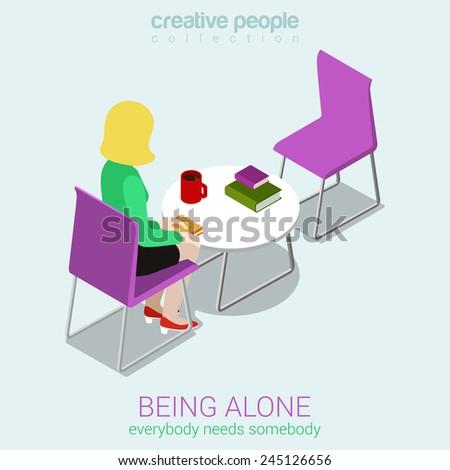 loneliness flat 3d web