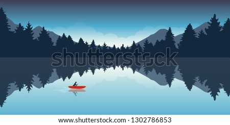 lonely canoeing adventure with