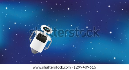 lonely cute robot lost in