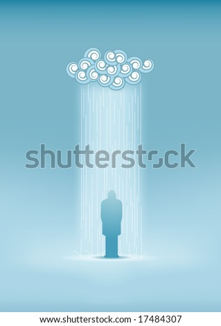 lonely man in the rain all