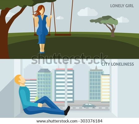 lonely people flat horizontal
