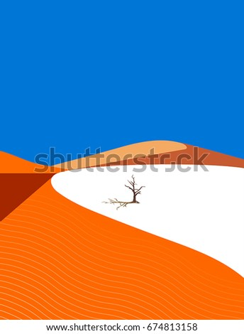 lonely tree in the desert on