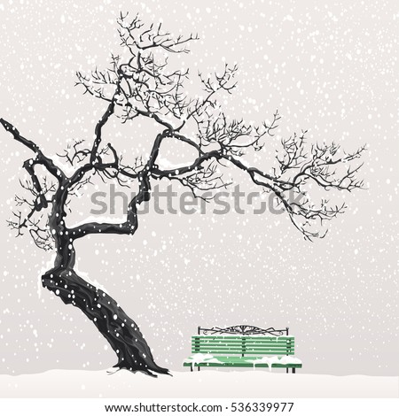 lonely tree without leaves head