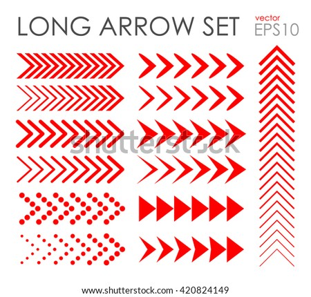 Long arrow icon set, vector EPS 10 #420824149