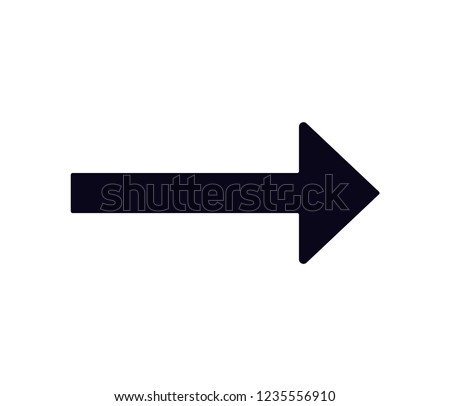 long arrow right  icon vector