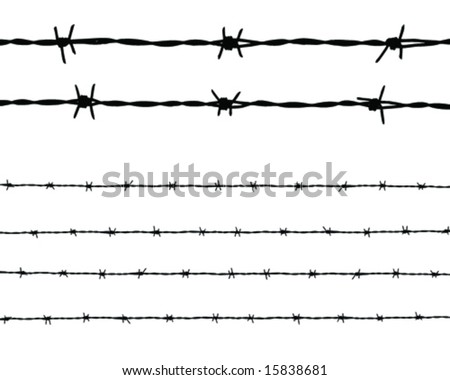 long barbed wire and two piece