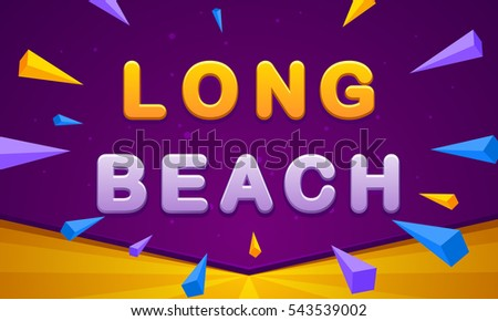long beach banner triangle