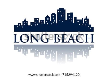 long beach skyline city logo