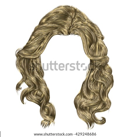 long curly hairs light colors