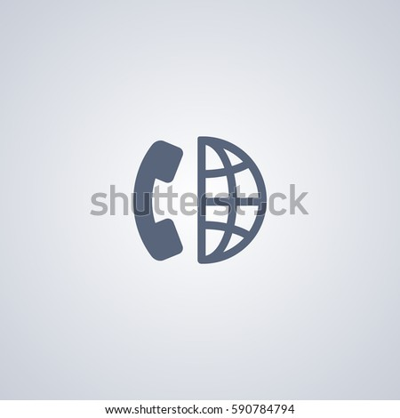 Long distance call icon