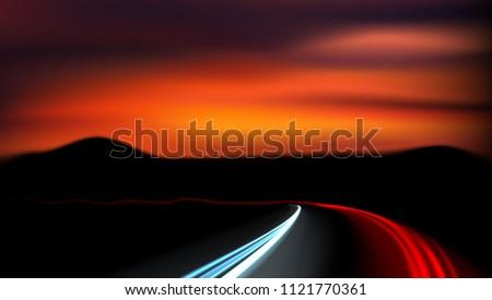 long exposure vehicles light
