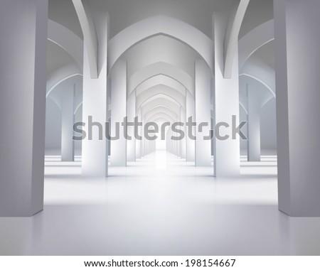 long hallway vector