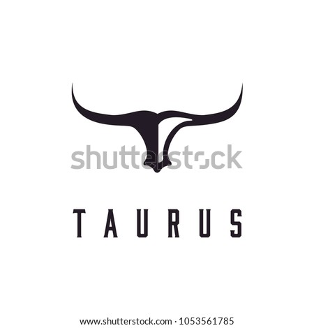 long horn bull head logo design