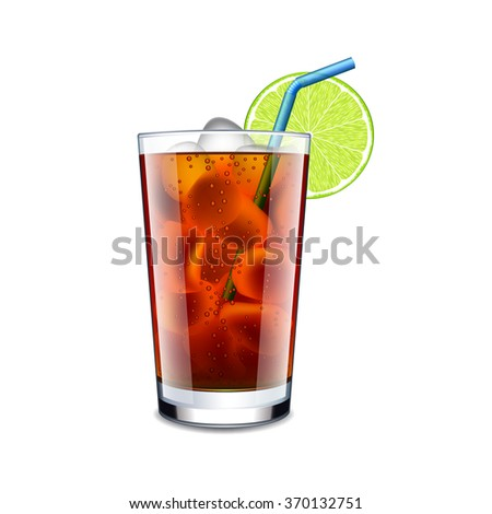 long island cocktail isolated