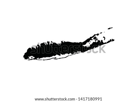 Long Island outline map New York state region