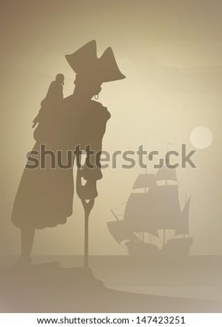 long john comes ashore ストックフォト ©