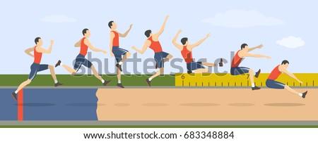 Long jump illustration.