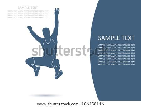 Long jump - vector background