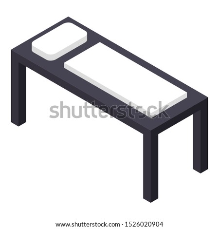 Long one person bed icon. Isometric of long one person bed vector icon for web design isolated on white background