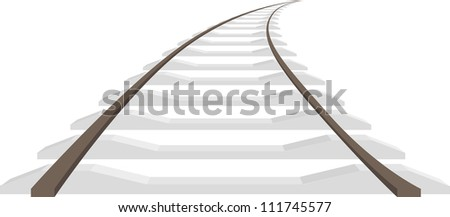 Long rails isolated, vector illustration - stock vector