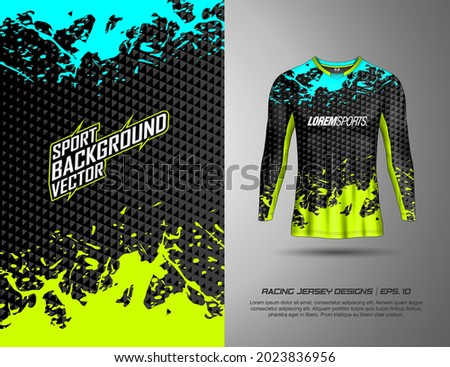 Long sleeve and t-shirt designs sports abstract background for extreme jersey team, cycling, football, gaming and racing livery. Photo stock ©