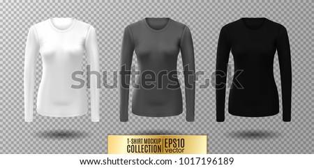 long sleeve blank shirt vector