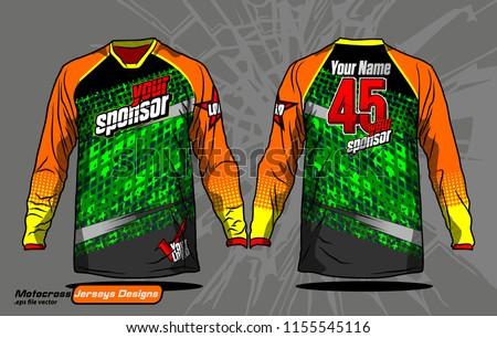 long sleeve motocross jerseys t
