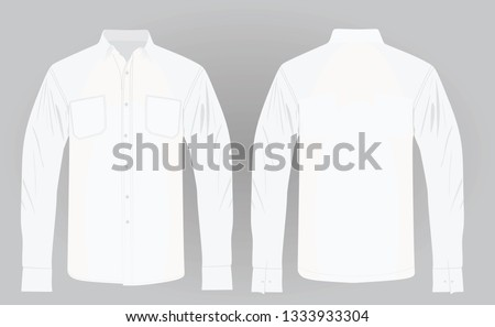 Long sleeve shirt. vector illustration #1333933304